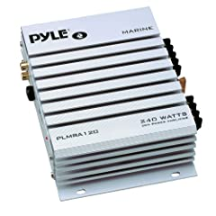 PYLE PLMRA120 240-Watt 2-Channel Waterproof Marine Car Amplifier by Pyle