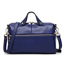 buy Fleeting Time Womens Fashion Boston Simple Casual Shopping Handbag(Blue)