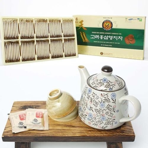 Red Ginseng + Reishi Mushroom Powdered Tea_3g X 100bags(300g or 10.3oz) (Red Ginseng Extract Tea compare prices)