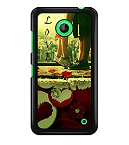 PRINTSWAG LOVER COUPLE Designer Back Cover Case for NOKIA LUMIA 630