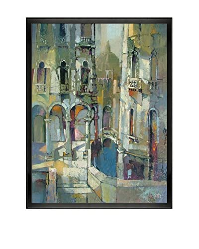 "Alex Bertaina ""Venice Le Soir"" Framed Canvas Print"