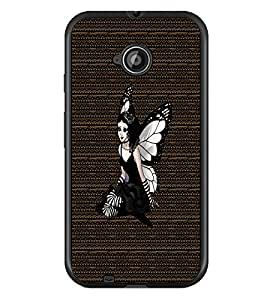 PrintDhaba Angel D-3265 Back Case Cover for MOTOROLA MOTO E2 (Multi-Coloured)