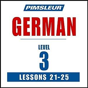 German Level 3 Lessons 21-25 Speech