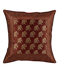 Trendy Red Single Soft Cushion Cover 16x16 Elephant Patchwork Pillow Covers Home Decor Polydupion Throw Pillow By Rajrang