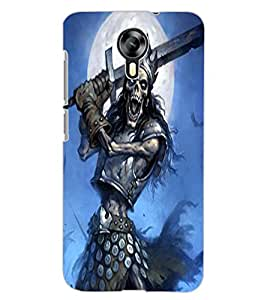 ColourCraft Fighting Skeleton Design Back Case Cover for MICROMAX CANVAS XPRESS 2 E313