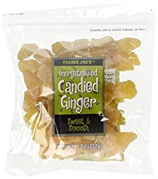 3 Pack Trader Joe\'s Uncrystallized Candied Ginger Sweet & Smooth