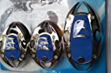 Sporty Non Slip Pedal Brake Pad Covers 3 PCS (Colour May Vary) and GLOW POINT LOGO Wooden Engraved Key Ring for Audi A4