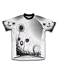 Rotating Flower Short Sleeve Cycling Jersey for Women