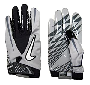 Buy Nike Vapor Jet Mesh-NCAA Mens Football Gloves - Silicone Palm - 3XL by Nike
