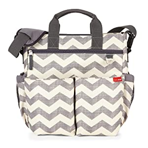 Skip Hop Duo Signature Changing Bag Chevron (Grey) by Skip Hop