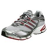 adidas Men's Supernova Glide Running Shoe,Lt Grey/Haze/Red,12.5 M