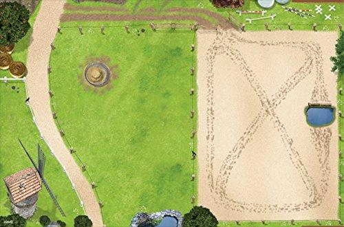 Pferdekoppel / Springplatz Spielmatte (Spielteppich) für das Kinderzimmer - SM09 - Maße: ca. 150 x 100 cm