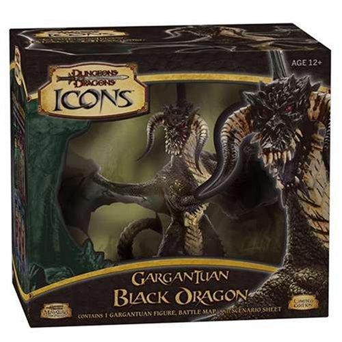 Gargantuan Black Dragon (Dungeons & Dragons Icons)