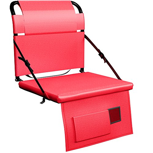 Stadium Seat Chair for Bleachers or Benches - Enjoy Extra Padded Cushion Backs - Light Portable and Easy to Carry (Extra Large Stadium Seats compare prices)