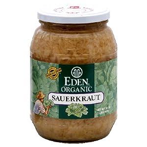 Eden Foods Organic Sauerkraut Glass ( 12x32 OZ)