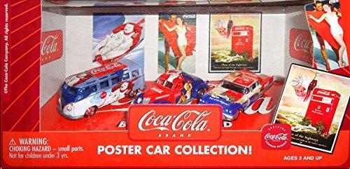 Johnny Lightning Coca-Cola Poster Diecast Car Set 1:64 Scale