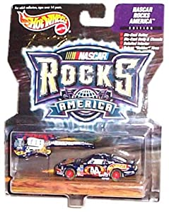 Hot Wheels Racing - NASCAR - Rocks America - Petty Enterprises/HotWheels - #44 Pontiac Grand Prix (Black) replica with bonus die-cast guitar
