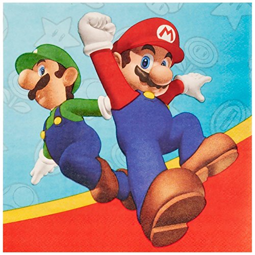Super Mario Party Lunch Napkins (20) by Party Destination - 1