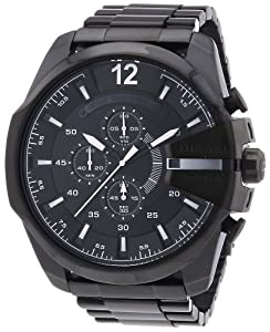 Diesel - DZ4283 - Montre Homme - Quartz Chronographe - Chronomètre/ Aiguilles lumineuses - Bracelet Acier Inoxydable Plaqué Noir