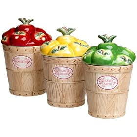 Pfaltzgraff Delicious 3-Piece Sealed Canister Set