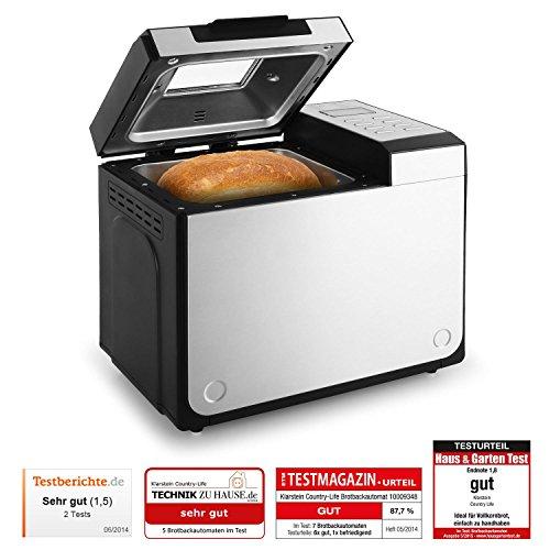Klarstein Country-Life - Machine à pain avec 12 programmes (préparation automatique jusqu'à 1 kg de pain , programme rapide, minuterie)