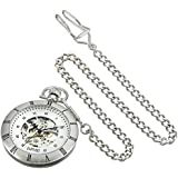 August Steiner Men's AS8017SS Analog Display Automatic Self Wind Silver Watch