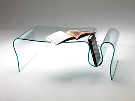 Curved glass coffee table Wave - Living room, halls, particulary wave shape