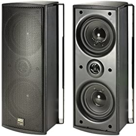 "MTX MP42B 200-Watt Home Theater Speaker w/ two 4"" Woofers (Black)"