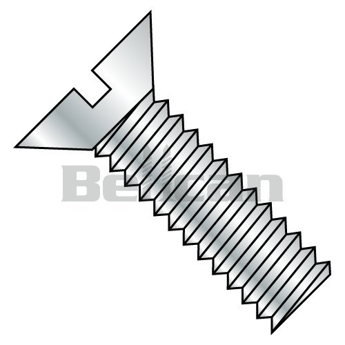 Bellcan Bc 0210msf Slotted Flat Machine Screw Fully Threaded Zinc 2