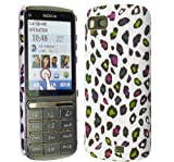 FOR NOKIA C3-01 STYLISH MULTI COLOUR LEOPARD PRINT HARD BACK PROTECTION CASE COVER