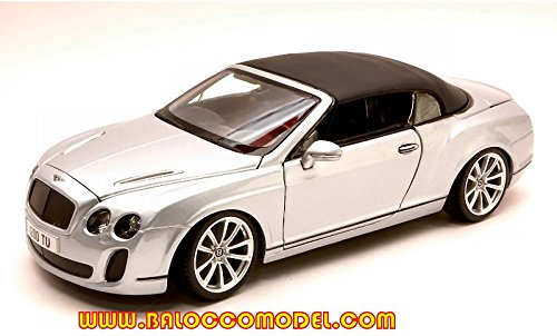 BENTLEY CONTINENTAL SUPERSPORT CONVERTIBLE SOFT TOP 2010 1:18 Burago Auto Stradali modello modellino die cast