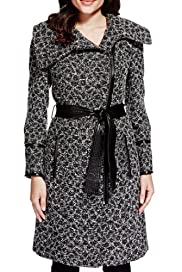Per Una Jacquard Leopard Print Belted Coat with Wool [T62-3816J-S]