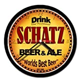 SCHATZ beer and ale cerveza wall clock