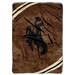 Northwest Wyoming Cowboys Plush 60x80 Rachel Blanket by Northwest
