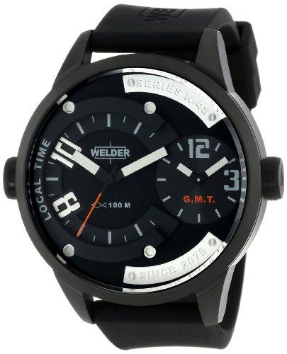 Welder K48 W600 K48 - Reloj de cuarzo unisex, correa de cuero color negro