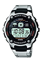 Casio Youth World-time Digital Black Dial Mens Watch - AE-2000WD-1AVDF (D084)