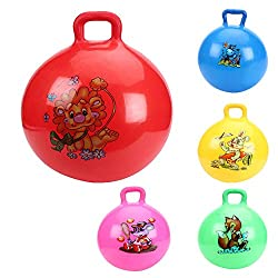 Tickles Jumping Ball (Inflatable Space Hopper, Jumping Ball, Ride-on Bouncy Ball) Kid Birthday Gift (Random Color any 1 ) 41cm