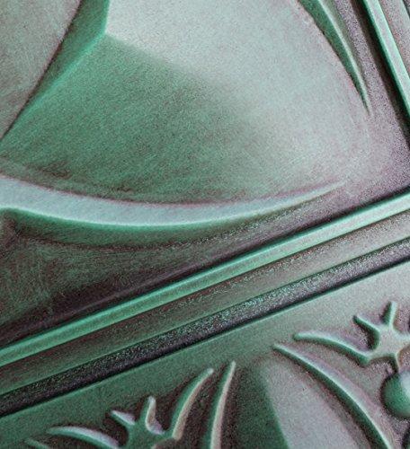 PL01imitation peinture 3D plafond Motif carreaux Vert ancien café Pub Shop Art Décoration murale panneaux 10pieces/Lot