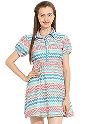 Puff Sleeve Short Dress Medium