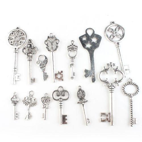 assorted-keys-vintage-silvery-alloy-key-pendants-findings-jewelry-making-accessory
