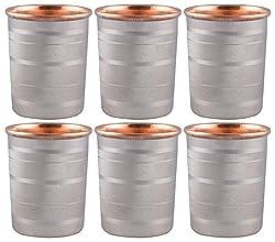 Saga Tumblers, 200 ml, Set of 6, Silver