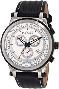 August Steiner Men's ASA814BK Swiss Quartz Sport Chronograph Date Watch