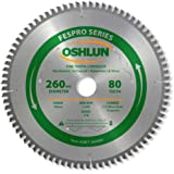 Oshlun SBFT-260080 260mm 80 Tooth FesPro Crosscut ATB Saw Blade with 30mm Arbor for Festool Kapex KS 120