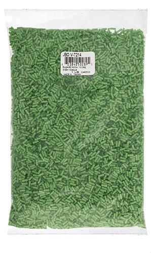 John Bead Outlet No.2 Vintage Bugle Bead Bag, 1-Pound, Green Opaque