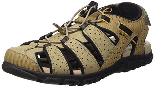 Geox Uomo Sandal Strada B Sandali a punta chiusa, Uomo, Beige (Beige (SANDC5004)), 39