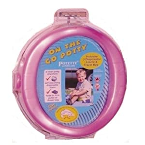 On-the-go Potty Portable Travel Toddler Seat Pink Chair Potette