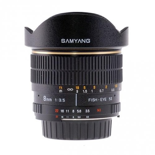 SAMYANG 8 mm f / 3.5 IF MC Fisheye Lens For Nikon