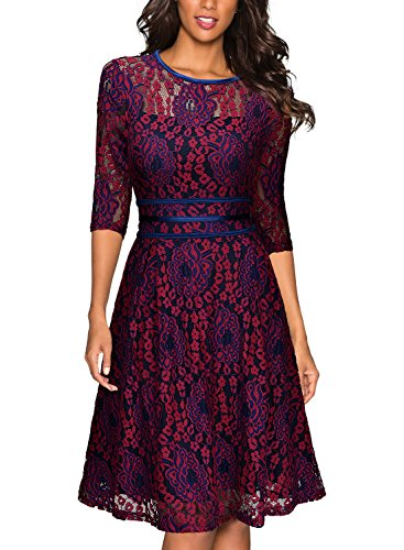 miusol-womens-vintage-floral-lace-2-3-sleeve-cocktail-evening-party-dress-dark-red-and-purple-large