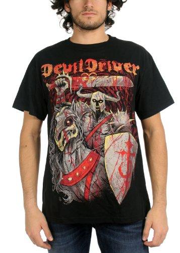 DevilDriver - Uomo Knight T-Shirt in Nero, Small, Nero