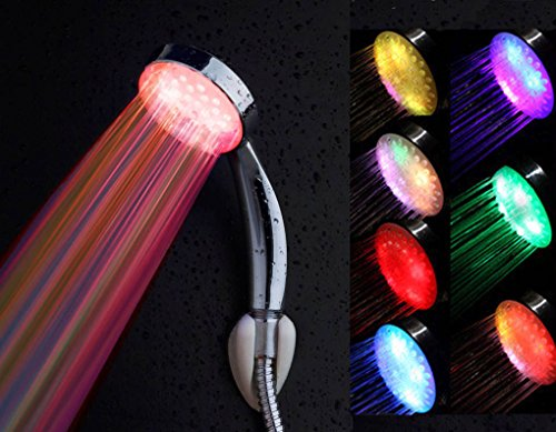 Battery-less, Water-powered LED Shower Head that Lights Up, Mix Color